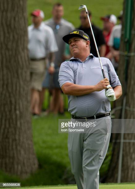 Jason Dufner during the second round of the Memorial Tournament at Muirfield Village Golf Club in Dublin Ohio on June 01 2018
