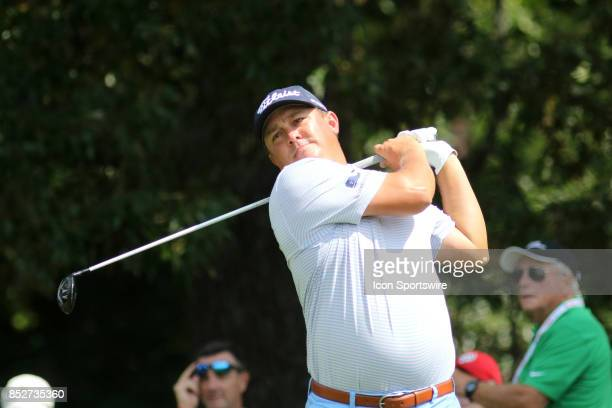 Jason Dufner during the second round of the PGA Tour Championship on September 22 2017 at East Lake Golf Club in Atlanta Georgia