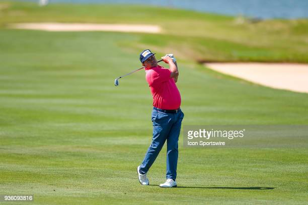 Jason Dufner hits a shot from the fairway during the First Round of the WGCDell Technologies Match Play on March 21 2018 at Austin Country Club in...