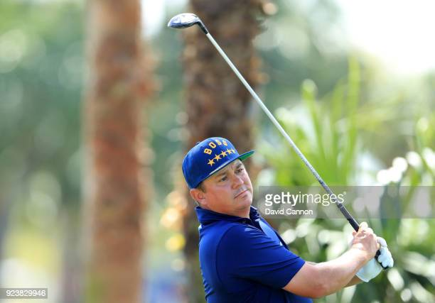 Jason Dufner of the United States plays his tee shot on the par 4 second hole during the third round of the 2018 Honda Classic on The Champions...
