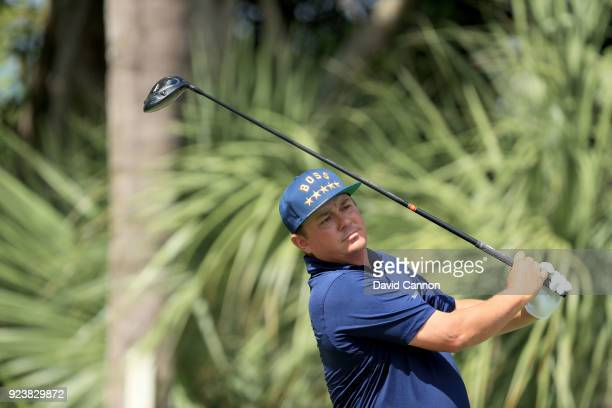 Jason Dufner of the United States plays his tee shot on the par 5 third hole during the third round of the 2018 Honda Classic on The Champions Course...