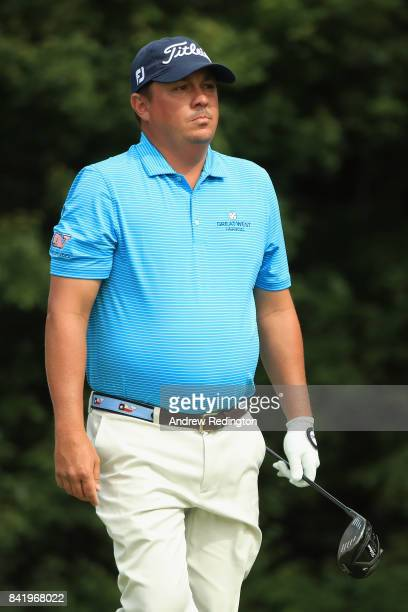Jason Dufner of the United States stands on the 14th tee during round two of the Dell Technologies Championship at TPC Boston on September 2 2017 in...