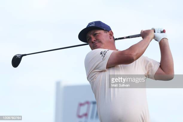 Jason Dufner of the United States watches his tee shot on the 11th hole during the final round of the Honda Classic at PGA National Resort and Spa...