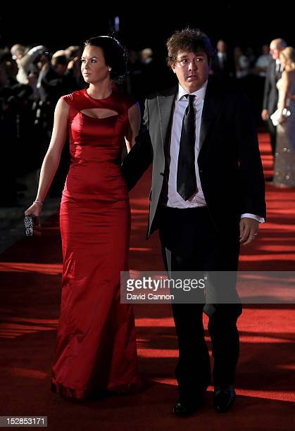 Jason Dufner of the USA and his wife Amanda Dufner attend the 39th Ryder Cup Gala at Akoo Theatre at Rosemont on September 26 2012 in Rosemont...