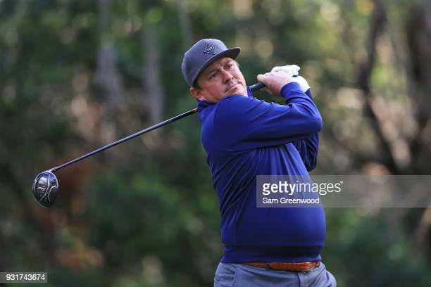 Jason Dufner plays his shot from the 11th tee during the first round of the Valspar Championship at Innisbrook Resort Copperhead Course on March 8...