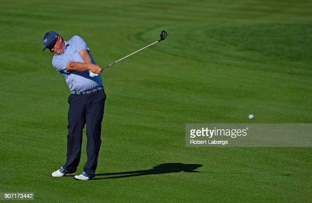 Jason Dufner plays his shot on the 11th hole during the second round of the CareerBuilder Challenge at the Jack Nicklaus Tournament Course at PGA...