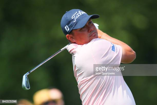 Jason Dufner tees off at the 2nd hole during the final round of The Northern Trust PGA Golf Tournament on August 27 2017 at Glen Oaks Club in Old...