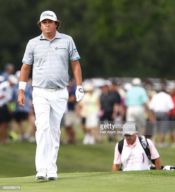 Jason Dufner walks on No. 18 during the second round of the Crowne Plaza Invitational at Colonial, in Fort Worth, Texas, Friday May 23, 2014.