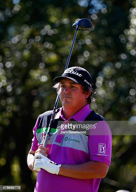 Jason Dufner watches his tee shot on the 6th hole during the second round of the Valspar Championship at Innisbrook Resort and Golf Club on March 14...