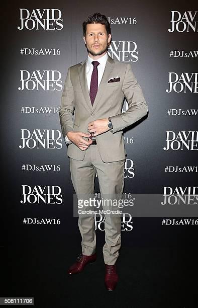 Jason Dundas arrives ahead of the David Jones Autumn/Winter 2016 Fashion Launch at David Jones Elizabeth Street Store on February 3 2016 in Sydney...