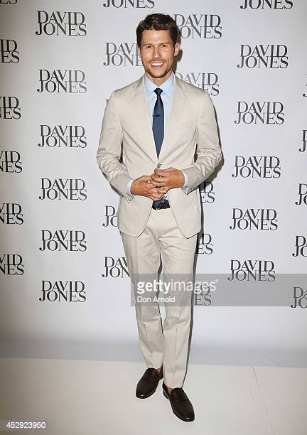 Jason Dundas arrives at the David Jones Spring/Summer 2014 Collection Launch at David Jones Elizabeth Street Store on July 30, 2014 in Sydney,...