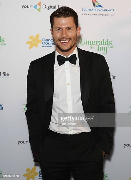 Jason Dundas arrives at The Emeralds and Ivy Ball at Sydney Town Hall on October 10 2014 in Sydney Australia