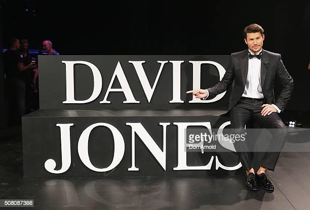 Jason Dundas poses during rehearsal ahead of the David Jones Autumn/Winter 2016 Fashion Launch at David Jones Elizabeth Street Store on February 3,...