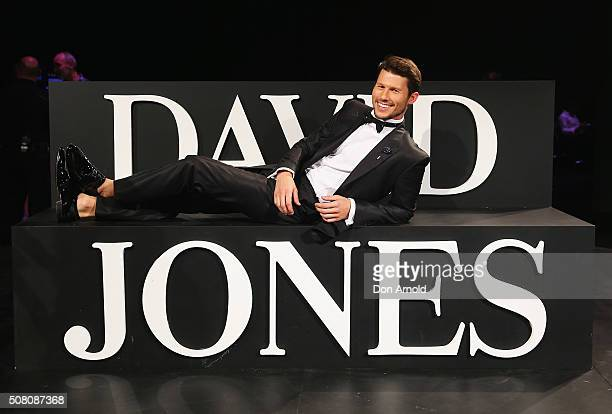 Jason Dundas poses during rehearsal ahead of the David Jones Autumn/Winter 2016 Fashion Launch at David Jones Elizabeth Street Store on February 3...