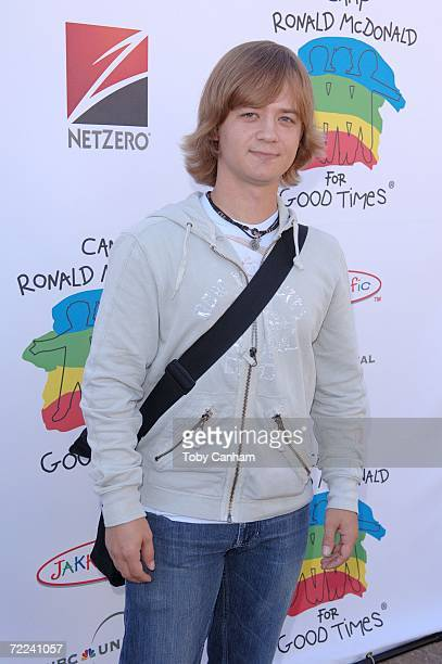 Jason Earles poses for a picture at the Camp Ronald McDonald for kids 14th Annual Family Halloween Carnival at Universal Studios October 22 2006 in...