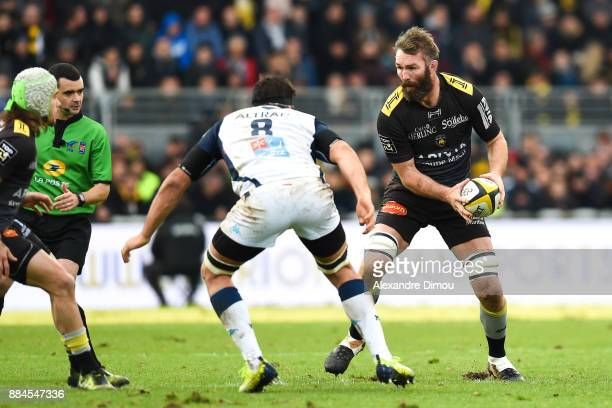 Jason Eaton of La Rochelle during the Top 14 match between La Rochelle and Montpellier on December 2 2017 in La Rochelle France