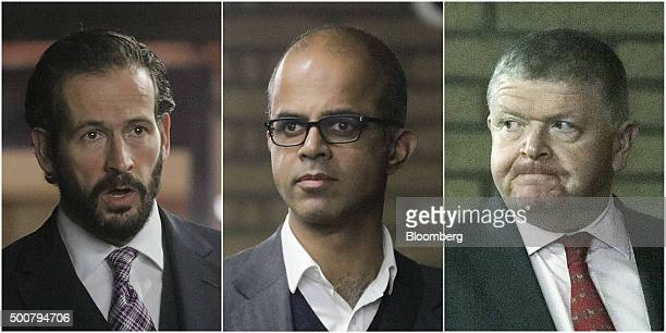 Jason Edinburgh left Assad Amin centrer and Vincent Walsh former equities traders with Royal Bank of Scotland Group Plc leave Southwark Crown Court...