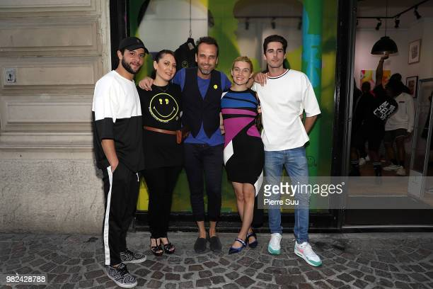 Jason Elbaz Stacy Igel Nicolas Loufrani Jackie Swerz and Alexi gremmel attend the Boy Meets Girl Black Label X Smiley Original as part of Paris...