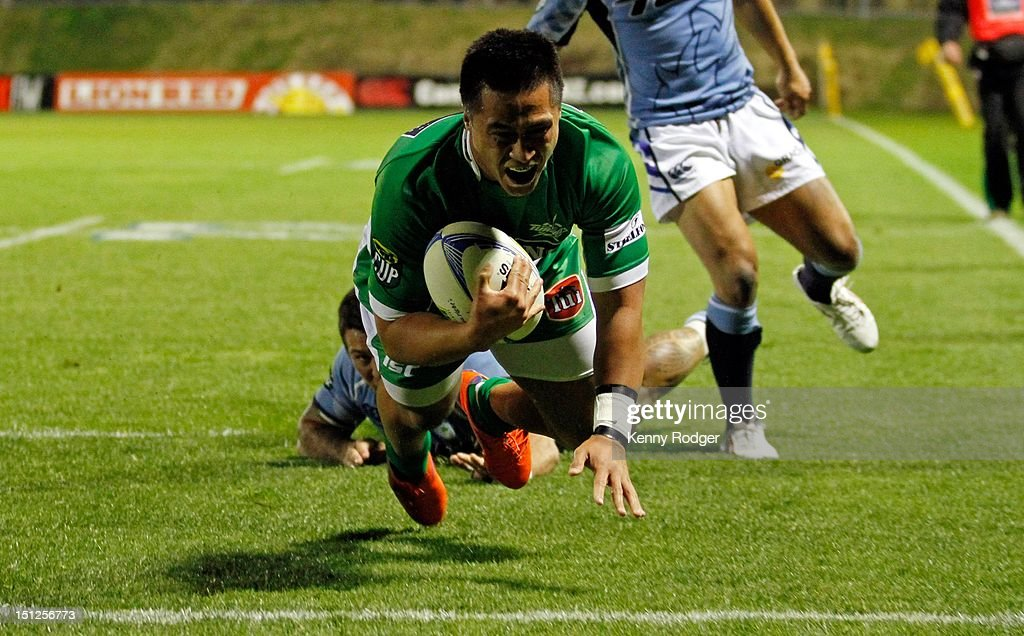 Jason Emery of Manawatu scores a try against Northland during the round four ITM Cup match between Northland and Manawatu at Toll Stadium on September 5, 2012 in Whangarei, New Zealand.