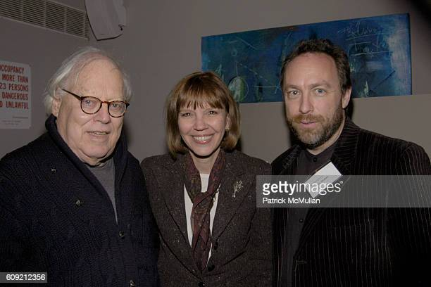 Jason Epstein Judith Miller and Jimmy Wales attend The Glasshouse New York An Evening With Wikipedia founder Jimmy Jimbo Wales Moderated By...