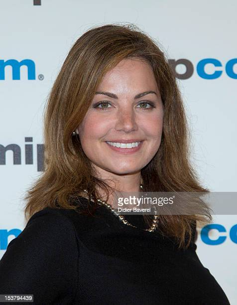 Jason Erica Durance attends the Mipcom Opening Party at Martinez hotel on October 8 2012 in Cannes France