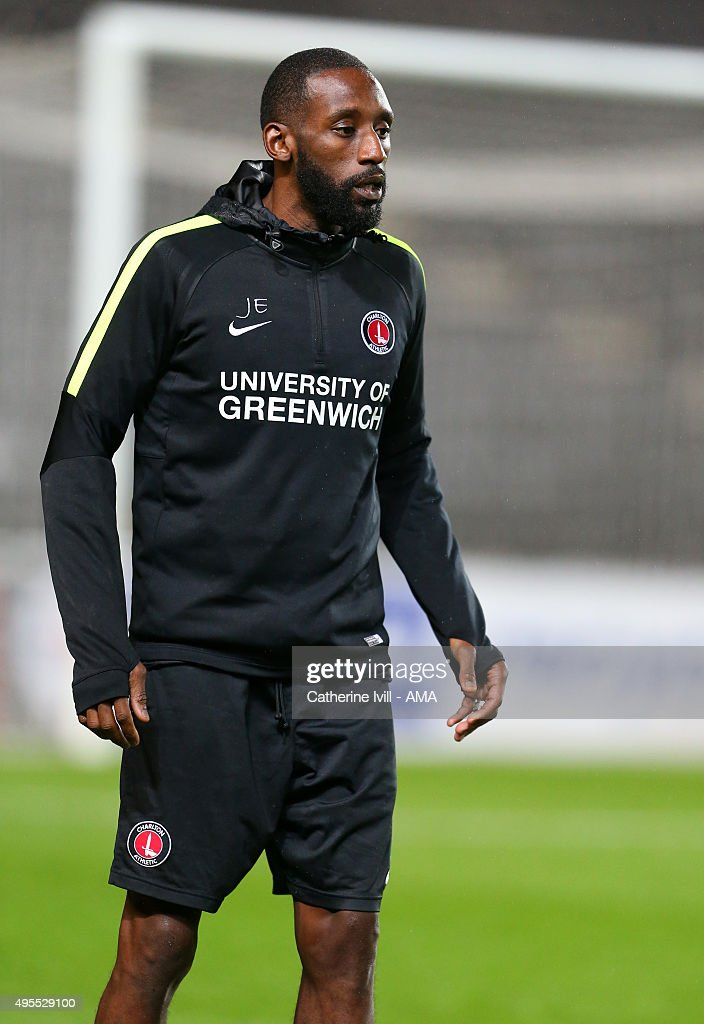Jason Euell coach for Charlton Athletic takes the warm up before the Sky Bet Championship match between MK Dons and Charlton Athletic at Stadium mk on November 3, 2015 in Milton Keynes, United Kingdom.