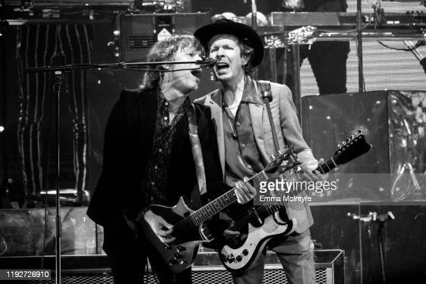 Jason Falkner and Beck perform onstage at KROQ Absolut Almost Acoustic Christmas 2019 Day 1 at Honda Center on December 07 2019 in Anaheim California