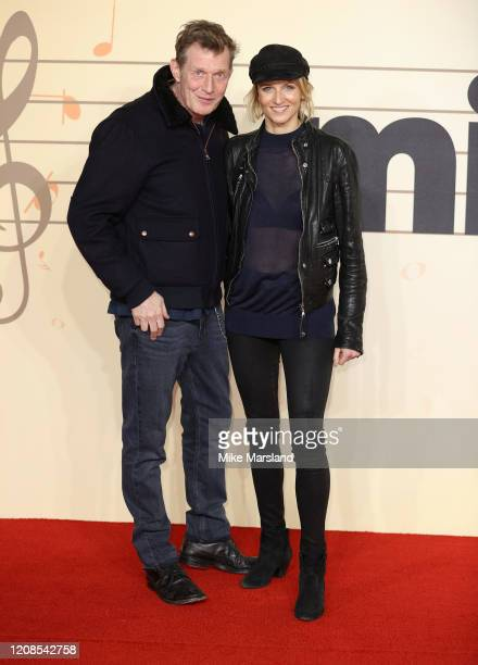 Jason Flemyng and Elly Fairman attend the Military Wives UK Premiere at Cineworld Leicester Square on February 24 2020 in London England