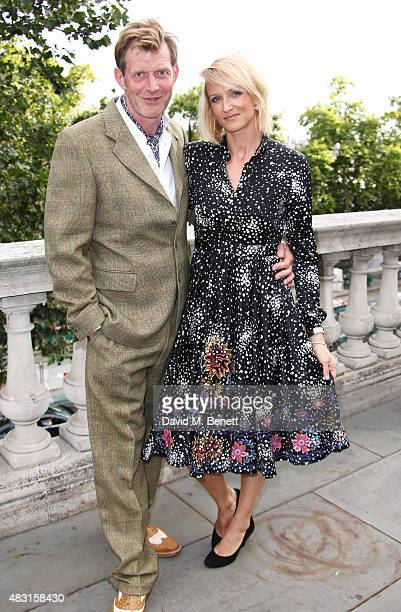 Jason Flemyng and wife Elly Flemyng attend a UK Premiere of Gemma Bovery at Somerset House on August 6 2015 in London England