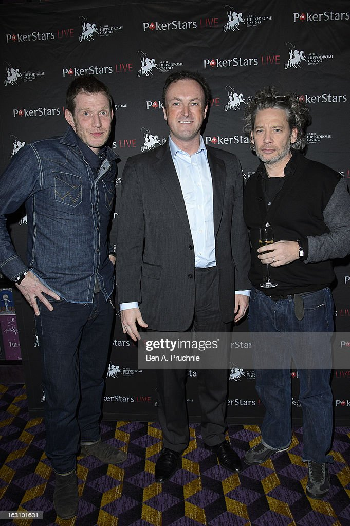 Jason Flemyng, CEO and coowner of The London Hippodrome Simon Thomas and Dexter Fletcher attends the launch of The PokerStars LIVE Lounge at The Hippodrome Casino London on March 4, 2013 in London, England