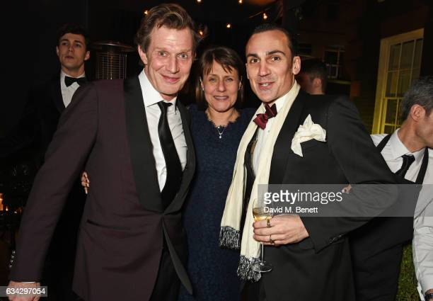 Jason Flemyng Lucinda Syson and Henry LloydHughes attend the dunhill and Dylan Jones preBAFTA dinner and cocktail reception celebrating Gentlemen in...