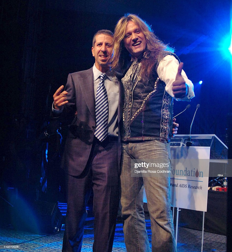 Jason Flom and Sebastian Bach during TJ Martell Foundation - October 6, 2005 at Marriott Marquis in New York City, New York, United States.