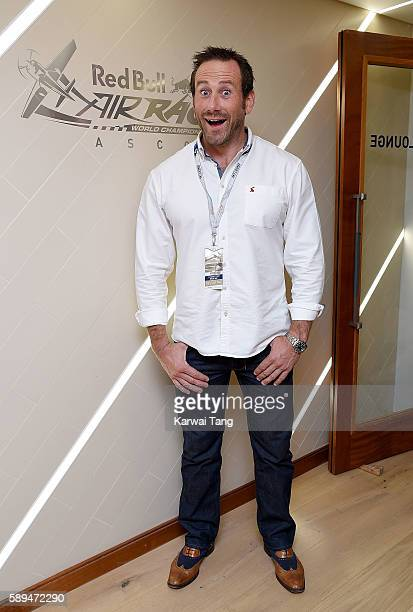Jason Fox attends the Red Bull Air Race World Championships at Ascot Racecourse on August 14 2016 in Ascot England
