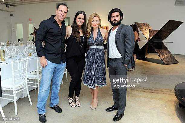 Jason Freeman Jennifer Freeman Katherine Jenkins and Andrew Levitas attend Andrew Levitas Metalwork Playground Private Dinner at Blueshift Wynwood on...