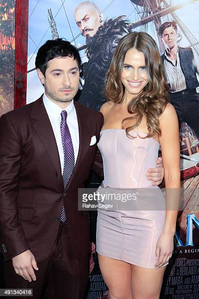 Jason Fuchs and Alexandra Siegel attend 'Pan' premiere at Ziegfeld Theater on October 4 2015 in New York City