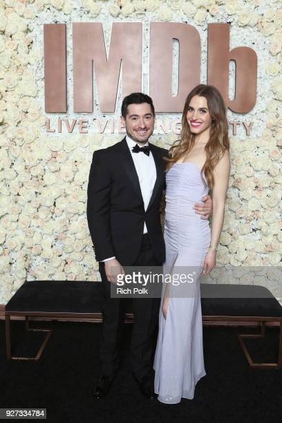 Jason Fuchs and Alexandra Siegel attend the IMDb LIVE Viewing Party on March 4 2018 in Los Angeles California