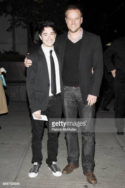 "Jason Fuchs and Jason Moore attend Roundabout Theatre Company's Opening Night of THE UNDERSTUDY"" at Laura Pels Theatre on November 05 2009 in New..."
