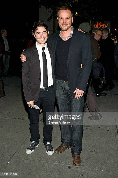 Jason Fuchs and Jason Moore attend the OffBroadway opening night of The Understudy at the Laura Pels Theatre on November 5 2009 in New York City