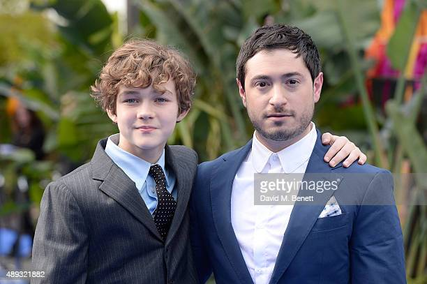 Jason Fuchs and Levi Miller attends the World Premiere of Pan at Odeon Leicester Square on September 20 2015 in London England