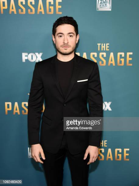 Jason Fuchs arrives at FOX's The Passage Premiere Party at The Broad Stage on January 10 2019 in Santa Monica California