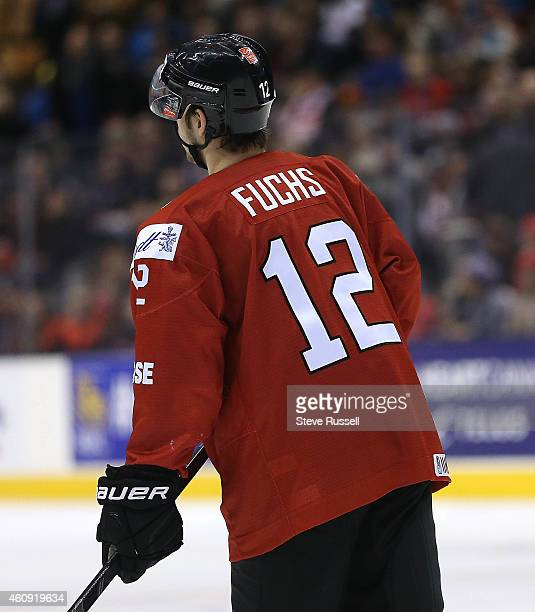 TORONTO ON DECEMBER 30 Jason Fuchs as Switzerland plays Denmark in the round robin of the IIHF World Junior Hockey Tournament at the Air Canada...