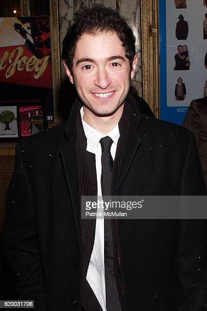 Jason Fuchs attends PAL JOEY Opening Night Theater Arrivals at Studio 54 on December 11 2008 in New York City
