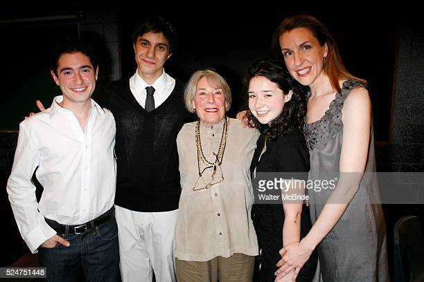 Jason Fuchs Gideon Glick Sarah Steele Mary Rodgers Guettel Susan Blackwell attend the Opening Night of the Roundabout Theatre Company's Production of...