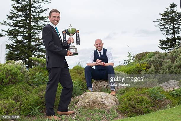 Jason Fullard and Lee Buckingham of Torquay Golf Club after winning the PGA National ProAm Championship South West Qualifier at Bovey Castle Golf...