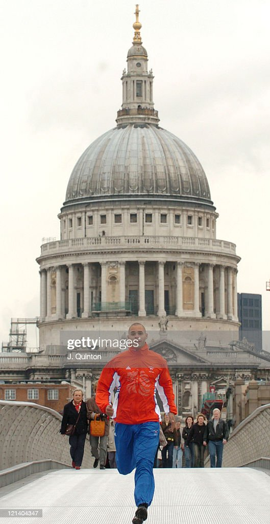 British Olympic Sprinter Jason Gardener Photocall - London - April 2, 2004