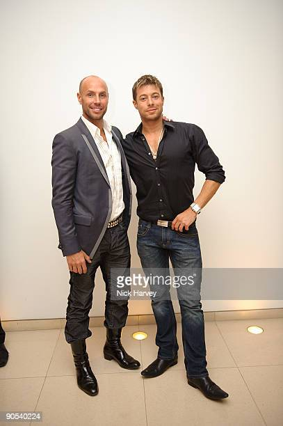Jason Gardiner And Duncan James Attend The 10th Anniversary Party Of St Martins Lane Hotel At