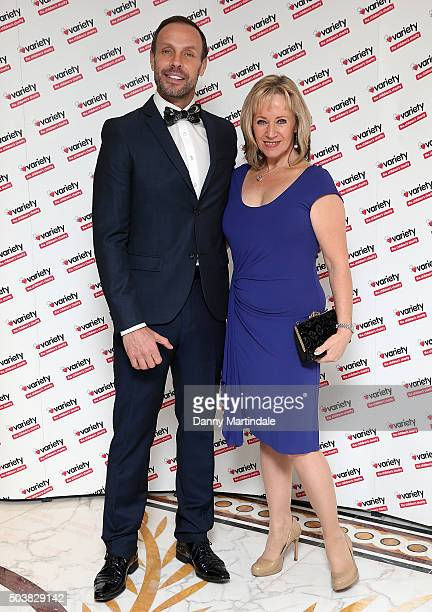 Jason Gardiner and Karen Barber attends a Torvill and Dean tribute lunch in aid of Variety at The Dorchester on January 7 2016 in London England