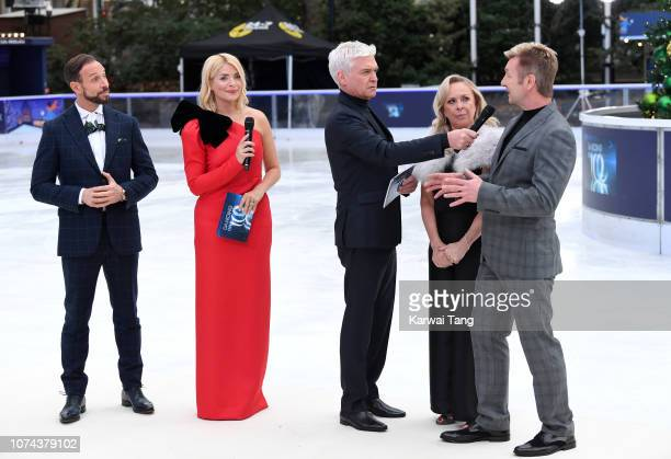 Jason Gardiner Holly Willoughby Phillip Schofield Jayne Torvill and Christopher Dean attend a photocall for the new series of Dancing On Ice at...