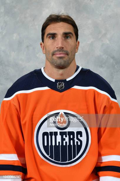 Jason Garrison of the Edmonton Oilers poses for his official headshot for the 20182019 season on September 13 2018 at Rogers Place in Edmonton...