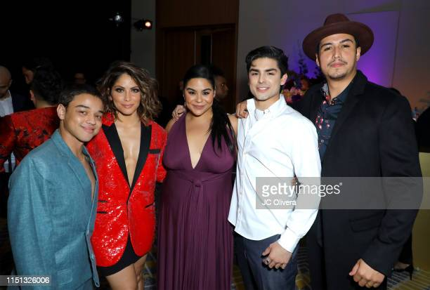 Jason Genao Valery Ortiz Jessica Marie Garcia Diego Tinoco and Julio Macias attend People En Espanol's Los 50 Más Bellos Celebration at 1 Hotel West...